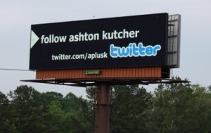 Ashton Kutcher Billboard Twitter CNN Challenge